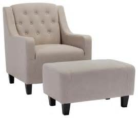 empierre linen club chair and footstool set contemporary