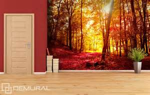 Autumn Forest Wall Mural Autumn Walk In The Forest Wall Murals And Photo