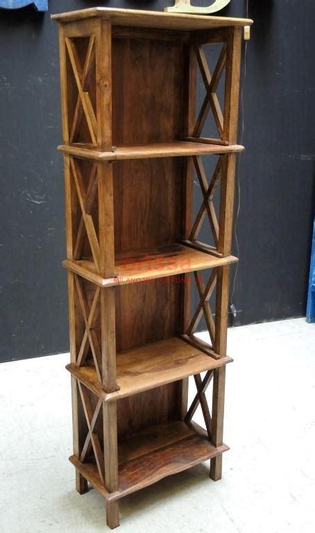 scaffale legno scaffale 49x25x152 legno or026b orissa