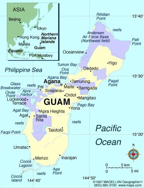 guam usa map their hometowns agana heights agat barrigada 2 chalan