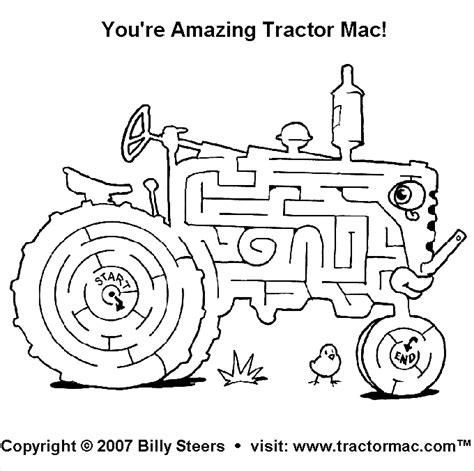 printable tractor mazes combine coloring pages coloring pages