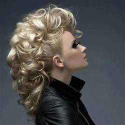 hair pieces to wear with fo hawk hairstyle boisterous mohawk updo with curls curls curls wedding