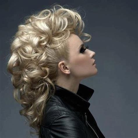 Mohawk Hairstyles With Curls by Boisterous Mohawk Updo With Curls Curls Curls Wedding