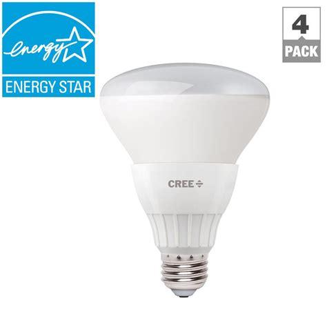 Cree Led Flood Light Bulbs Cree 65w Equivalent Daylight Br30 Dimmable Led Flood Light 4 Pack Bbr30 06550flf 12de26 4u100
