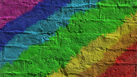 colored wall rainbow colored brick wall wallpaper abstract wallpapers