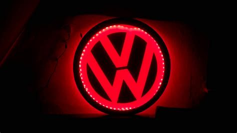 beleuchtung zeichnen vw logo rgb led beleuchtet ambiente beleuchtung