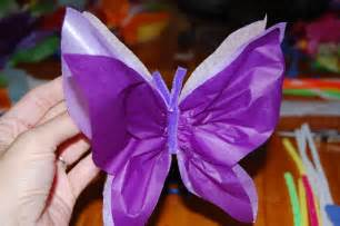 Make A Butterfly With Paper - tissue paper butterfly putti s world activities