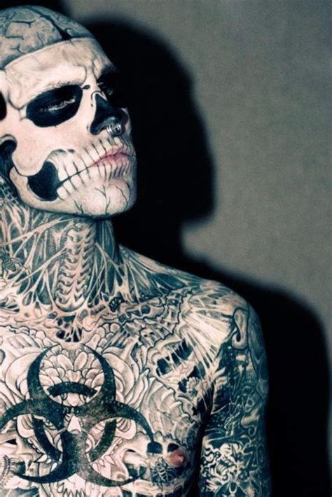 zombie tattoo guy 144 best images about on rick genest
