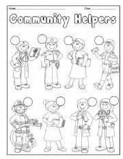 english teaching worksheets community helpers