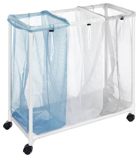 sectioned laundry whitmor 3 section plastic mesh laundry sorter contemporary hers by overstock