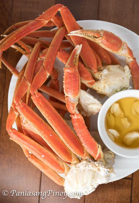 steamed snow crab legs recipe panlasang pinoy