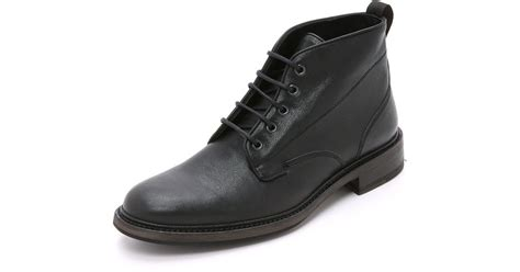 rag bone mens boots rag bone spencer chukka boots in black for lyst