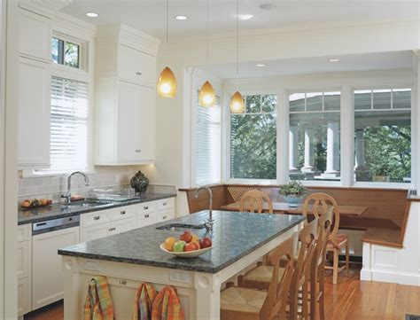 Eat In Kitchen Lighting Baroque Dish Towels Method Boston Kitchen Decorating Ideas With Banquette Breakfast