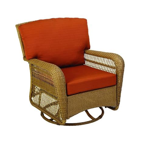 patio swivel chair furniture hton bay statesville padded sling swivel