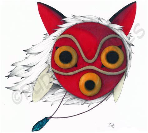 princess mononoke s mask by puddingshades on deviantart