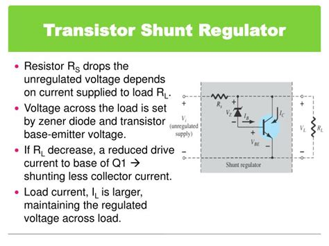 shunt resistor rs ppt chapter 6 voltage regulator powerpoint presentation id 5931334