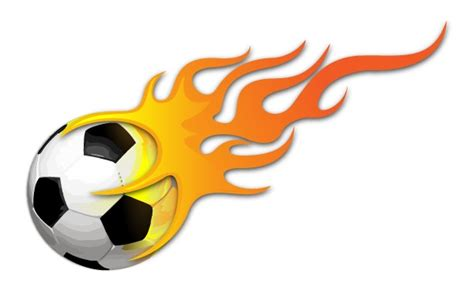 Free Clipart Flaming Soccer by Soccer With Flames Clipart Clipart Panda Free