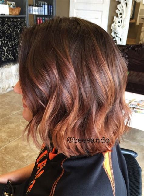 copper and brown sort hair styles image result for short auburn hair balayage hair