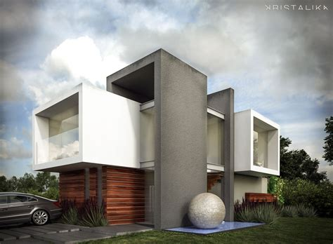 cf house architecture modern facade contemporary