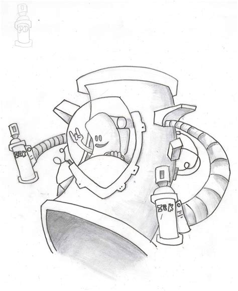 easy tattoo spray spray can robot by brokey23 on deviantart