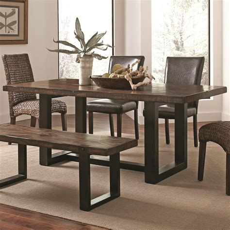 two tone dining coaster 121641 westbrook casual dining table rustic two