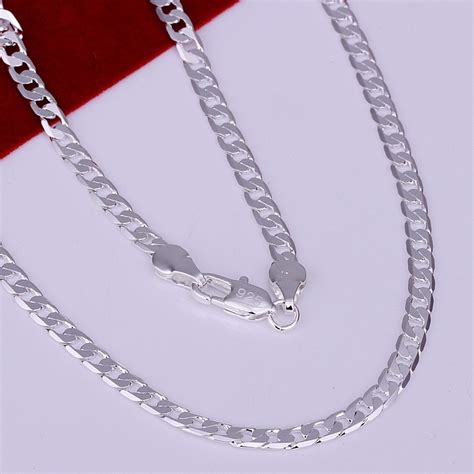 Flat Salem List Silver New Arival new arrival sell 16 30 inches silver plated 4mm flat