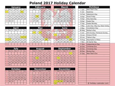 Poland Calendã 2018 Poland 2017 2018 Calendar