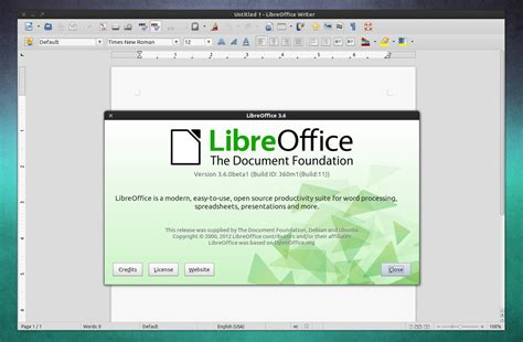 libreoffice 3 6 0 beta 1 released ubuntu 12 04 ppa web