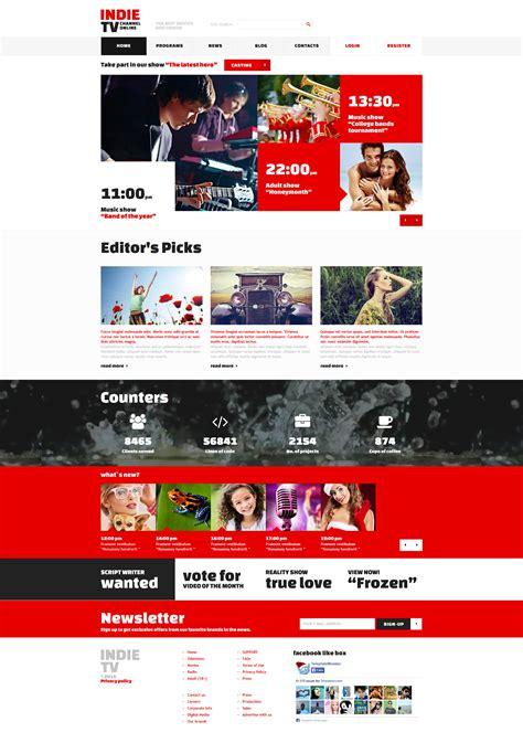 Tv Channel Responsive Joomla Template 52689 Tv Channel Website Templates Free