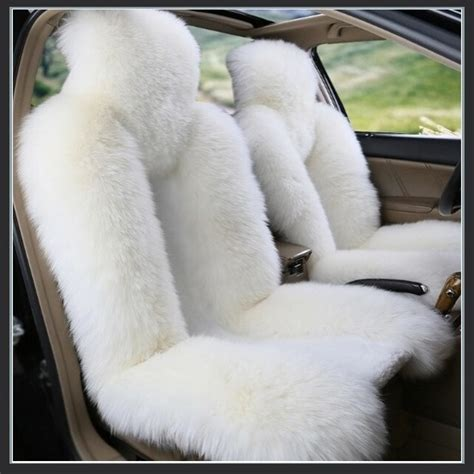 fluffy seat covers fluffy white luxury australian lambskin wool fur seat