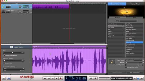 Garageband Recording Recording Saxophone Using Garageband