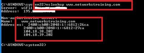 windows ip commands ipconfig nslookup netstat tracert
