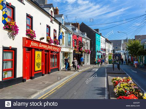 Of Shops by Shops And Bars On Lower Market In The Town Centre