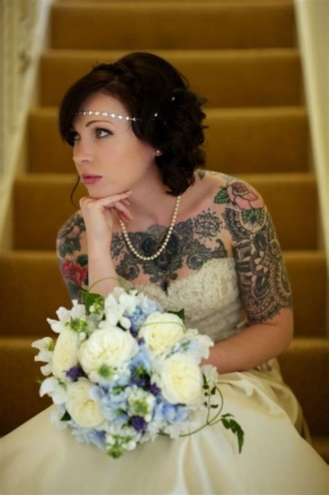 brides with tattoos tatted beautiful tattooed