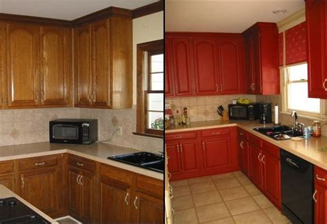 red kitchen cabinets with black glaze dark red painted kitchen cabinets quicua com