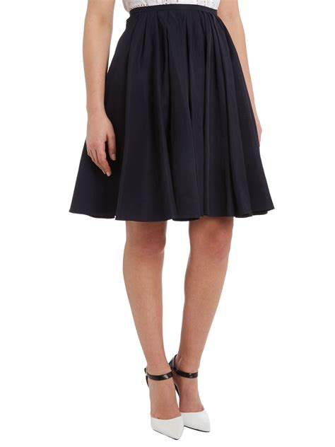 tara jarmon pleated front a line skirt in lyst