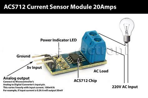 Acs712 20 Effect Current Sensor Arus 20a sensors other current measure module up to 20a acs712