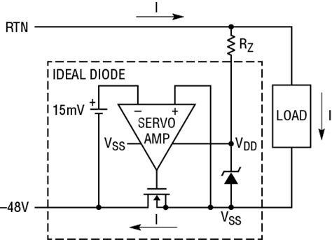 ideal zener diode circuit solutions negative voltage ideal diodes diode or controllers