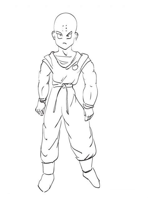 imagenes de krilin para dibujar faciles desenho de kurinin de dragon ball para colorir tudodesenhos