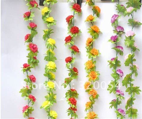 flowers decoration for home free shipping 200cm simulation of high grade carnation flower artificial rattan house decoration