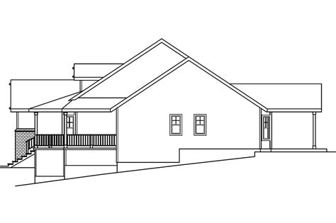 sloping lot house plans country house plans cumberland 30 606 associated designs
