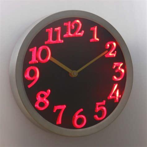 themes light clock neon light up wall clocks