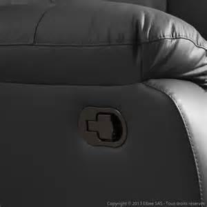 canap 233 3 places 2 relax manuel fauteuil cuir gaspard noir