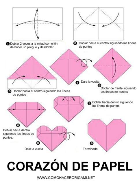 tutorial origami corazon aprender a hacer un coraz 211 n de papel