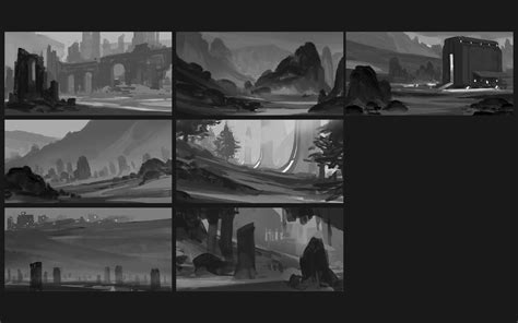 environment composition layout artstation composition shape thumbnails pt 2 ryan