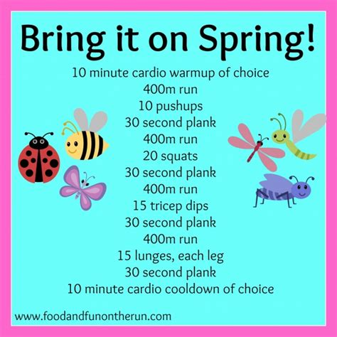 what is spring bring it on spring workout food and fun on the runfood