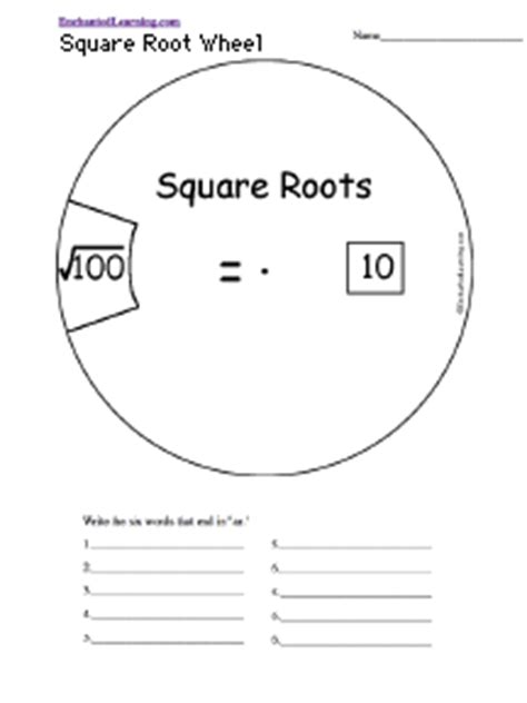 Cube Enchantedlearning - math worksheets square roots and cube roots square root