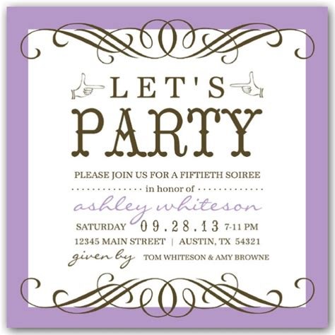 any color seattle 50th birthday invitations paperstyle
