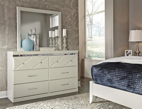 ashley bedroom dressers signature design by ashley dreamur b351 31 6 drawer dresser with faux crystal accents