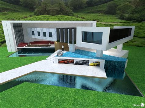 modern house ii house ideas planner 5d modern house with garage pool waterfall house ideas